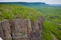 Rock Columns Cliff Face Lake Superior Thunder Bay Ontario