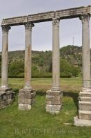 In the Roman village of Riez in Provence, France the remains of a Roman Temple are a popular attraction.