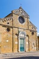 Romanesque Duomo Facade City Of Volterra Italy