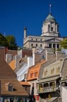 Rooftops Buildings Post Office Old Quebec City Canada