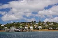The picturesque town of Russell situated in the Bay of Islands on the East Coast of the North Island of New Zealand.