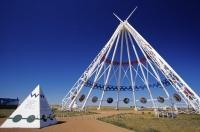 Constructed for the 1988 Winter Olympics which were held in Calgary, the Saamis Teepee was later moved to Medicine Hat in Alberta, Canada.