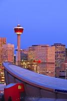 Saddledome Calgary City Tower Skyline Picture