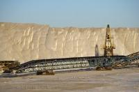 The salt industry in the Camargue region of Provence in France, Europe.