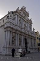 The ancient Santa Maria Zobenigo Church situated to the west of the Piazza San Marco in the city of Venice, Veneto in Italy, Europe.