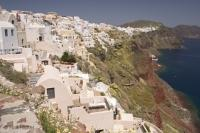 Oia Village Overview Santorini Island Greece