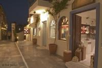 Twilight Shoping Oia Santorini Photo