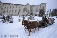 Travellers staying at the Fairmont Chateau Lake Louise in Banff National Park of Canada can also take scenic tours for any season.