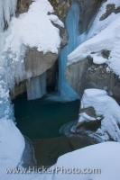 Sculpted Ice And Snow Formations Leitenkammerklamm Wildgerlostal Salzburger Land Austria