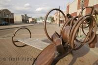 A sculpture situated in downtown St Albert in the province of Alberta, Canada.