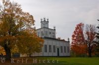Designed by a religious leader and constructed between 1825 and 1832, the Sharon Temple in Ontario was saved from demolition and designated a National Historic Site of Canada.