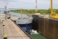 Freighter Ship Lock 3 Welland Canal Ontario