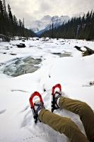 Shoeshoes Mistaya River Snow Scenery