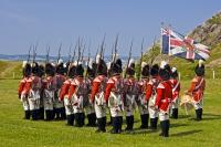 A military march and display performed by the Signal Hill Tattoo at the National Historic Site in St. John's on the Avalon Peninsula of Newfoundland, Canada.