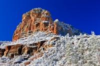 Beautiful during summer and also beautiful during winter when these rock formations in Slide Rock State Park, near Sedona, Arizona are covered with snow.