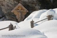 Snow Crucifix Wildgerlos Valley Salzburger Land