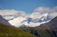 Snowcapped Mt Aspiring National Park South Island New Zealand