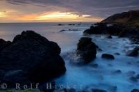 The diminishing hues of the sunset seen from the Southern Wairarapa coastline on the North Island of New Zealand.
