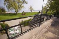 A pretty place to visit for a walk or picnic during a vacation in Burlington, Ontario is the Spencer Smith Park which features a waterfront trail.