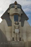An Egyptian icon, the Sphinx at the Luxor Las Vegas Resort Hotel in Nevada.