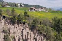 Strange formations known as earth pyramids near the village of Ritten in the South Tyrol region of Italy in Europe.