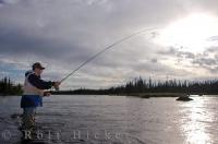 Sunset Fly Fishing Salmon River Newfoundland