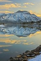 Sunset Winter Landscape Reflections