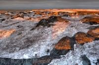 Sunset Rocky Coastline Hudson Bay Churchill Manitoba