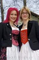 Two sweet girls at the Maibaumfest in a small Bavarian village, near Munich, Germany.