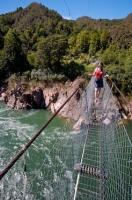 The swingbridge across the Buller River on the West Coast of the South Island of New Zealand is the longest in the whole of New Zealand and is a popular tourist attraction for visitors looking for a thrill.