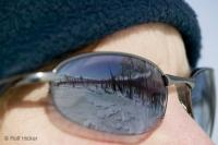 Winter Snow Scenes Reflecting in Sun Glasses