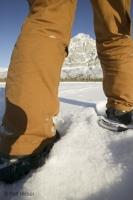 Taking a walk in snowshoes in the beautiful and scenic Brooks Range of Alaska.