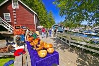 The Telegraph Cove art and craft fair is an annual Vancouver Island event which attracts many visitors from abroad and locally.
