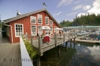 Take in the atmosphere of Telegraph Cove on Vancouver Island, from the comfort of the Killer Whale Cafe.