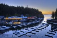 Telegraph Cove Sunset Northern Vancouver Island BC Canada