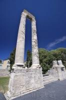 The site of the ancient Roman Theatre in the city of Arles, Provence, France is now used during summer festivals.