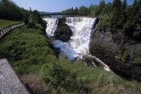 The Kakabeka Falls otherwise known as the Niagara of the North situated near Thunder Bay in Ontario, Canada.