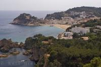 The town of Tossa de Mar in Catalonia, Spain was once a medieval village and dates back to the year 966.