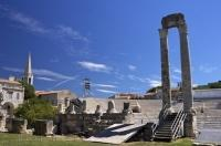 One of the many attractions for a tourist to see in the City of Arles, Provence, France is the Theatre Antique.