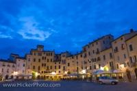 Tourist Attraction Piazza Anfiteatro Lucca City Tuscany Italy