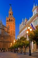 A main tourist attraction in Seville is the famous Cathedral and La Giralda, two beautiful examples of the interesting architecture seen throughout the city.