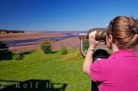Tourist Binoculars Minas Basin Walton Glooscap Trail Cobequid Bay Nova Scotia