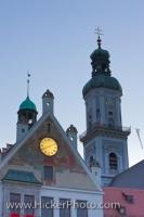 Town Hall Facade Church Bell Tower Freising Bavaria