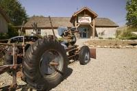 A tractor on display at the Grist Mill in Keremoes, British Columbia, Canada.