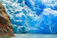 Sawyer Glacier is a statue of blue ice located in Tracy Arm on the path of many Alaskan cruiseships.
