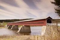 The covered bridge situated in St Georges is a historic site in Quebec, Canada and shouldn't be missed out from travel plans in the area.