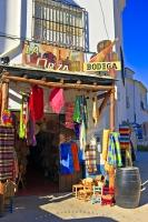 One of the many handcraft shops in the village of Trevelez, La Orza Bodega offers tourists an array of hand woven blankets, clothing and wine.