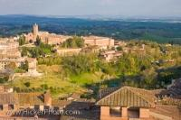 This lovely old Tuscan City of Siena in Italy was built on three hills surrounded by breathtaking scenery.