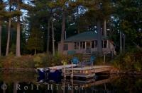 A dream cabin set in the wilderness of Algonquin Provincial Park in Ontario, Canada, the perfect vacation getaway.