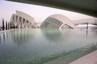 A magnificent museum and extremely extravagant planetarium are two of the main buildings to see at the City of Arts and Science in Valencia, Spain in Europe.